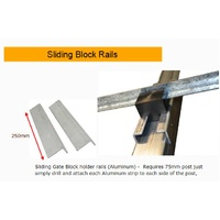 Sliding Gate Block Holder Rails Aluminium for Picket or uneven ground Gates / Pair image