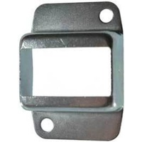 Steel Fence Rail Bracket for tube size 25x50 mm Double lugs 2 holes