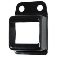 Steel Fence Rail Bracket for tube size 40x40 Single Lug Black