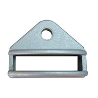 Aluminium Fence Bracket for tube size 50x10mm Single lug 1 hole