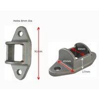 Aluminium Fence Bracket for tube size 30x30 mm Double Lugs