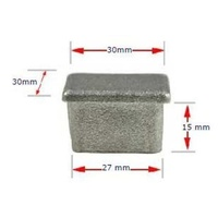 Aluminum Square Cap 30x30mm (1.6mm wall)
