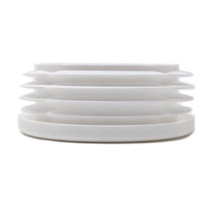 Plastic Round End Cap for Tube 25mm outside dimension (1-3mm) - White