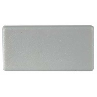 Plastic Rectangular End Cap/Tube insert 75x50mm (0.8-2.5mm)  in White