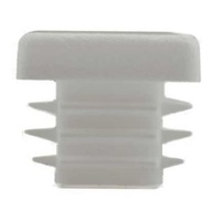 Plastic square End Cap/ Tube insert for Tube 25x25mm (1-3mm wall thickness) White