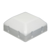 Steel Galvabond Post End Cap for tube 65x65mm - Pearl White