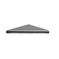 Low Profile Steel Galvabond End Cap 150x150mm Pyramid Top