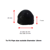 Galvabond Steel Round Cap 16mm 16NB Black