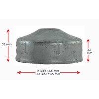 Galvanised Round End Cap 48.5mm (40NB)