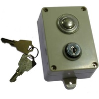 Single push button with key - Hardwire image