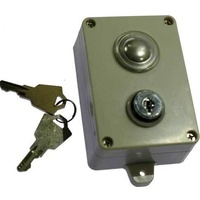 Single push button letron with key - wireless image