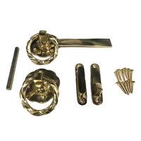 Heavy Duty Brass Gothic Gate Lock - Golden Brass Twist ring
