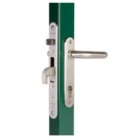 Swing Gate Mortise Lock H Metal 35 mm Back Set complete Kit-Stainless Handle