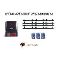 Italian Sliding Gate Motor BFT Ultra 400 kg 24V DC Complete kit with 3 Remotes