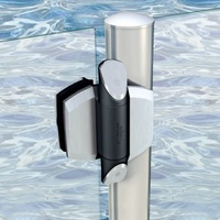 TruClose Self Closing HInge for Round post to Glass gates up to 25kg