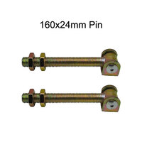 Adjustable Swing Gate Hinge long neck size160 x 24mm - Pair