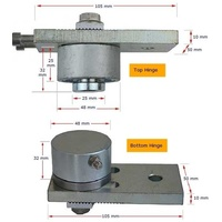 Stainless steel bearing hinge  adjustable 200 kg HN412 image