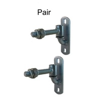 GUDGEON HINGE & TRUNNION HINGE Adjustable 90mm with 16mm Rod - 2 sets(pair)