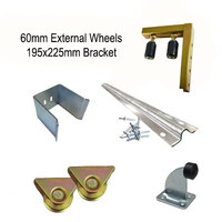 DIY Sliding Gate Kit-90mm External Wheel Double bearing  & 2 Tracks