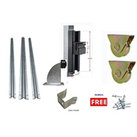 DIY Sliding Gate Kit-90mm External Wheel Double bearing  3 Tracks for Picket Top or Uneven ground Gates