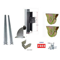 DIY Sliding Gate Kit-60mm External Wheel Double bearing  2 Tracks for Picket Top or Uneven ground Gates