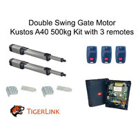 BFT Double Swing Gate Motor KUSTOS  BT KIT A40 500kg or 4 meters   Kit