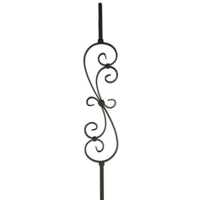 S Scroll 1000x150x12x6mm Spiral Scroll Wrought Iron Baluster