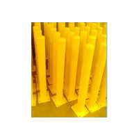 Surface Mount Steel Round Bollard 150NB (165mm OD) 1000mm long Safety Yellow - Pick up only
