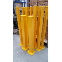 Surface Mount Steel Square Bollard 50x50mm 1000mm long Safety Yellow - Pick up only