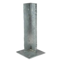 Steel Internal Post Base inserted for post size 75x75mm and Base 130x130mm