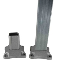 Aluminium post base insert for post 50x50mm base 100x100mm