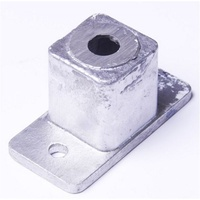 Aluminium post base insert for post 50x50mm base 100x50mm