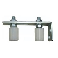 Sliding gate Top Guide Holder 150x60mm with 2 rollers 40x30mm White