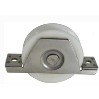Sliding Gate Wheel/Rollers for U Groove  White Nylon 90mm Stainless Steel Bracket