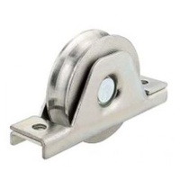 Stainless Steel Sliding Gate Wheel U Groove 90mm internal double bearing